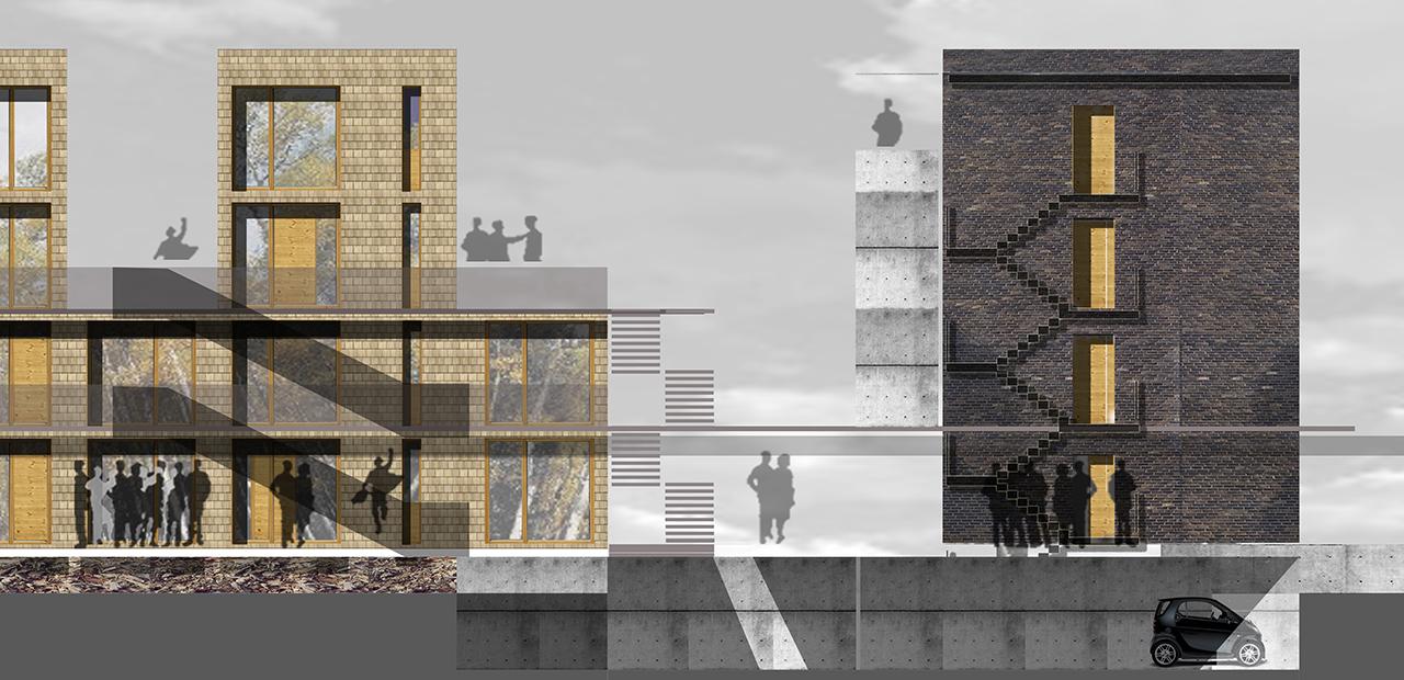 Energieplus wohnsiedlung a z architekten - Architektur schnitt ...